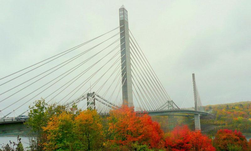 Penobscot Narrows Bridge in Bucksport Maine