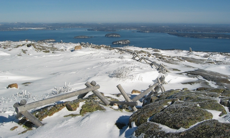 Cadillac Mountain Winter Acadia National Park Maine