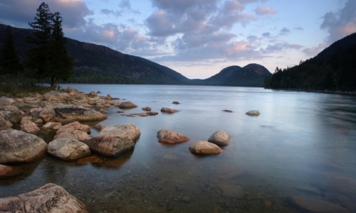 Jordan Pond Acadia Bubble Mountains