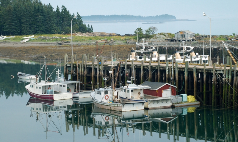 Deer Island Maine Fishing Boats Marina