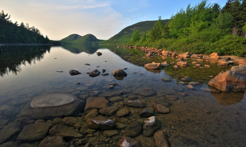 Acadia National Park Maine Jordan Pond Bubble Mountains