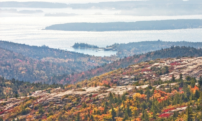 Acadia National Park Maine Cadillac Mountain Fall Foliage