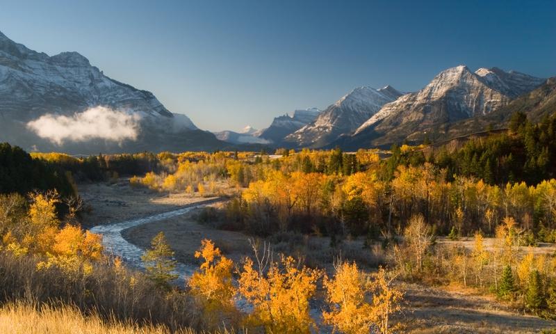 Waterton Lakes National Park Glacier Fall