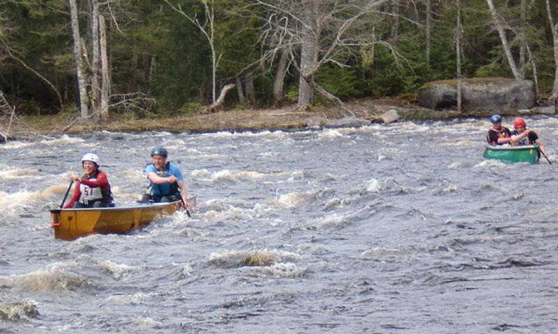 Canoe Race on the Machias River in Maine