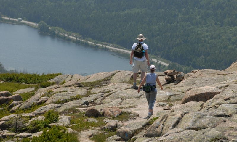 Acadia National Park Maine Bald Peak Hadlock Pond Hiking Trail
