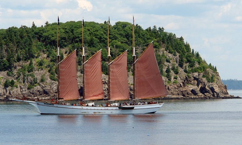 Bar Harbor Maine Boat Boating Windjammer Margaret Todd