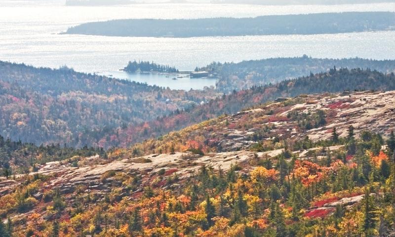 Acadia National Park Maine Cadillac Mountain Fall Foliage