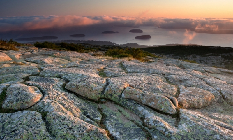 Acadia National Park Maine Cadillac Mountain Sunrise