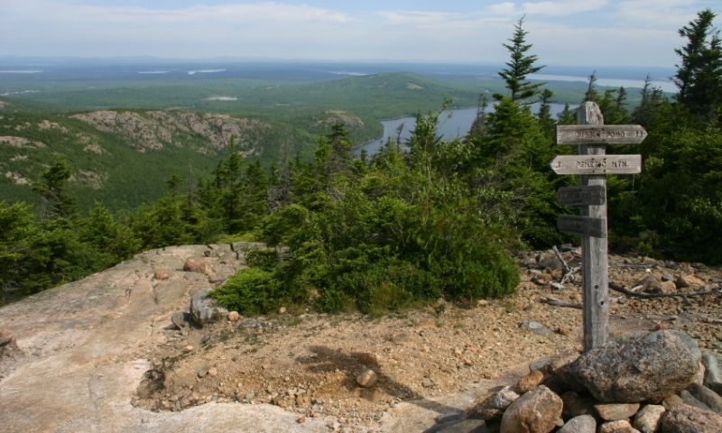 Acadia National Park Maine Pemetic Peak Hiking Trail Summit