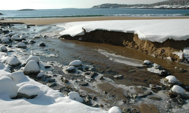 Sand Beach Acadia Maine