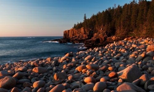 Otter Cliffs Boulder Beach Maine