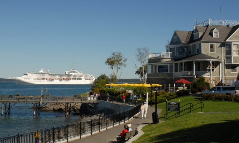 Bar Harbor Maine Cruise Ship Path Trail
