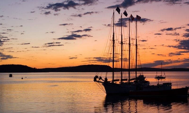 Bar Harbor Maine Sunrise Frenchman Bay