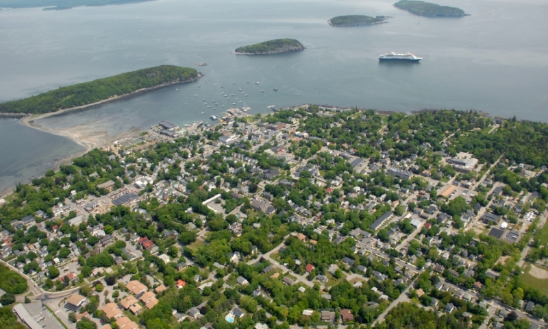 Bar Harbor Maine Aerial