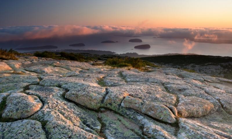 Acadia National Park Maine Cadillac Mountain Sunrise