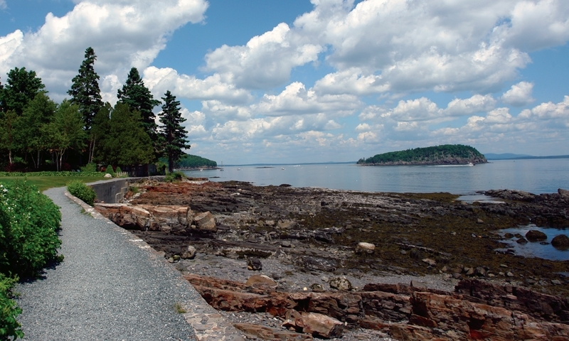 Bar Harbor Shore Path Walkway Maine Trail