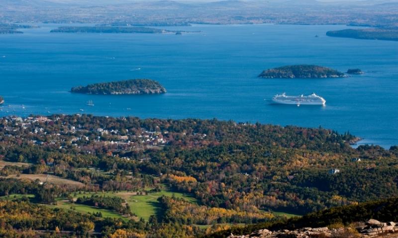 Bar Harbor Maine Marina Cruise Ship Frenchman Bay