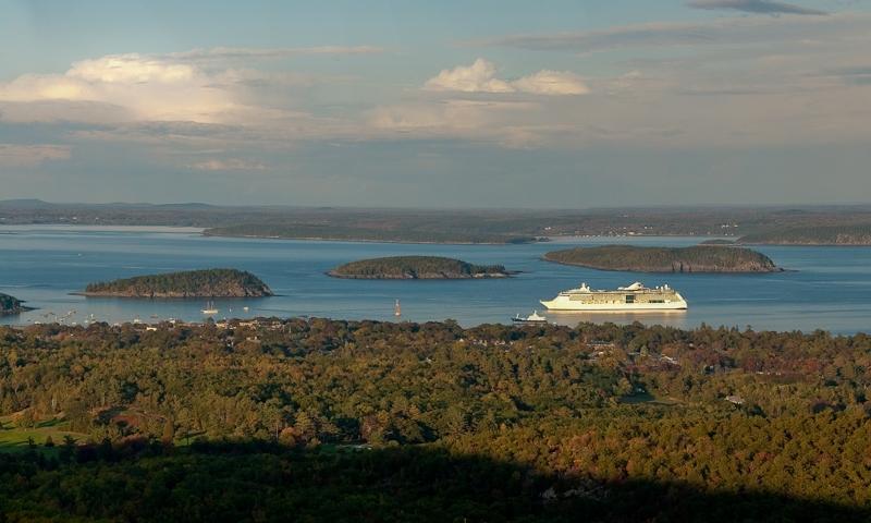 Bar Harbor Maine Acadia National Park Cruise Ship Boat Boating Frenchmans Bay